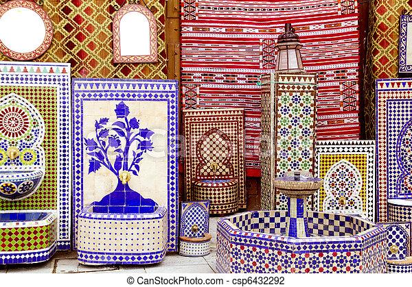 Stock foto von araber fliesenmuster deco stoff - Dekoration mosaik ...