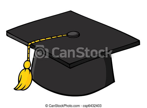Black Graduation Cap - csp6432403