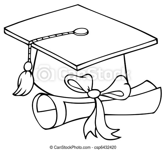 Graduate Cap With Diploma - csp6432420