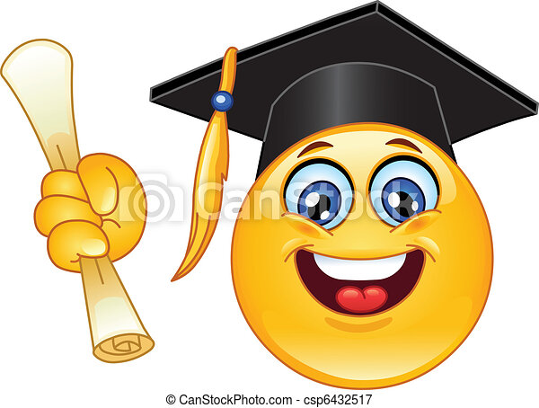 Graduation emoticon - csp6432517