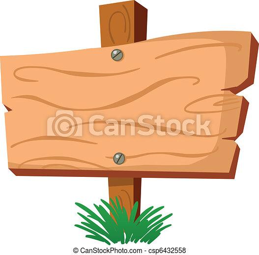 Wood sign - csp6432558