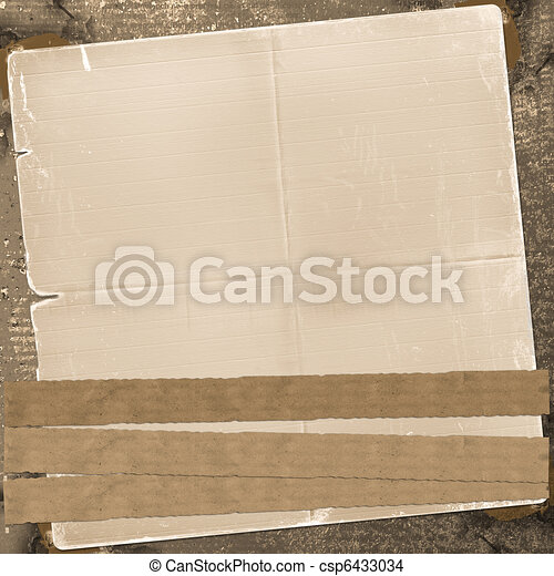 Old grunge background with abstract alienated paper - csp6433034