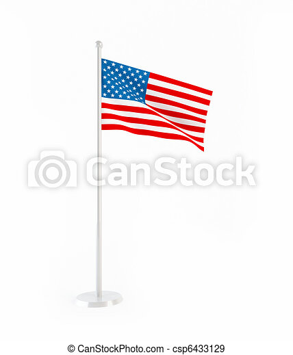 3D flag of USA - csp6433129