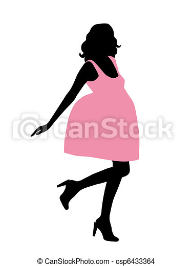 Glamour woman silhouette.  - csp6433364