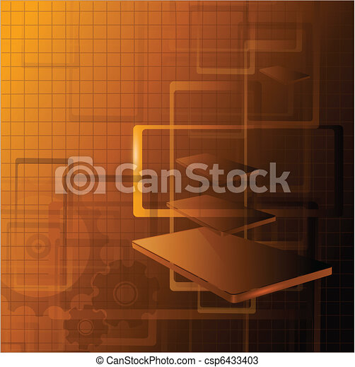 Abstract technology background - csp6433403
