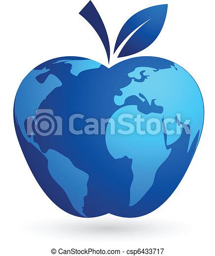 The global village - world apple - csp6433717