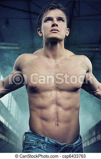 Portrait of an attractive athlete - csp6433763