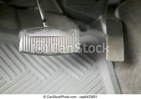 Gas and brake pedal, automobile, concept photography - csp6433851