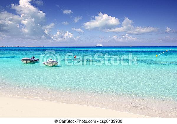 Illetas illetes beachn turquoise Formentera island - csp6433930
