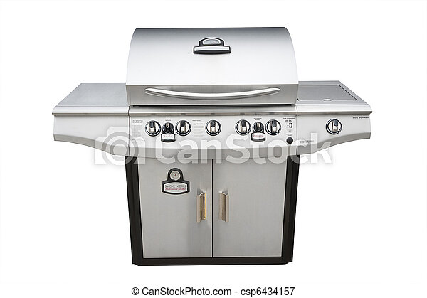 Barbecue gas grill, isolated - csp6434157