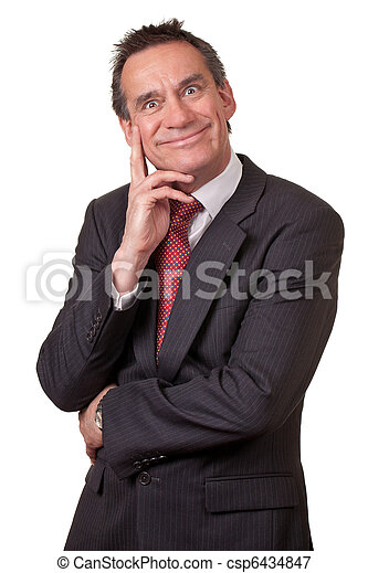 Attractive Business Man in Suit with Silly Grin - csp6434847