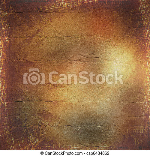 Abstract ancient brown background in scrapbooking style - csp6434862