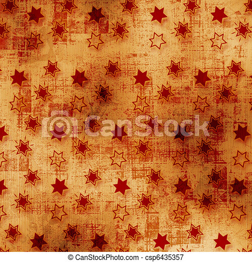Grunge old papers design in scrapbooking style with stars - csp6435357