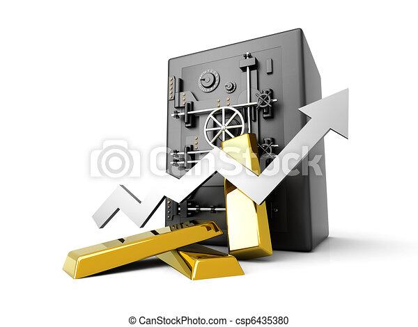 Growing Gold Deposit - csp6435380