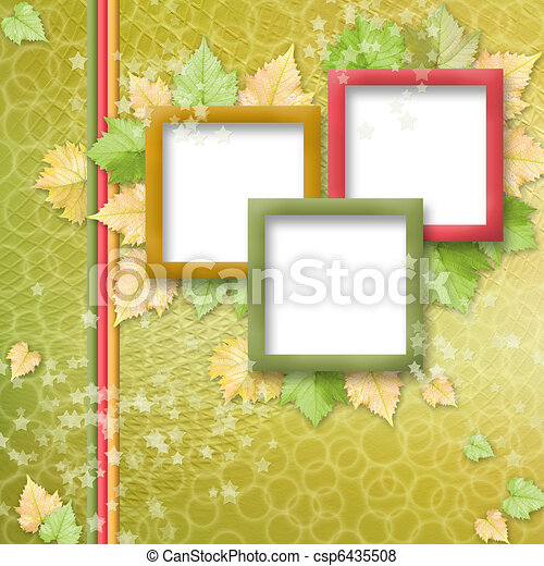 multicoloured holiday frames for greetings or invitations - csp6435508