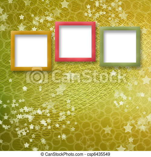 multicoloured holiday frames for greetings or invitations - csp6435549