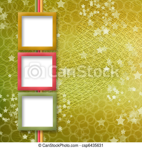 multicoloured holiday frames for greetings or invitations - csp6435631