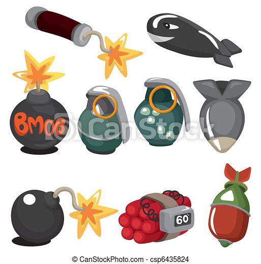 cartoon Explosive icon set - csp6435824