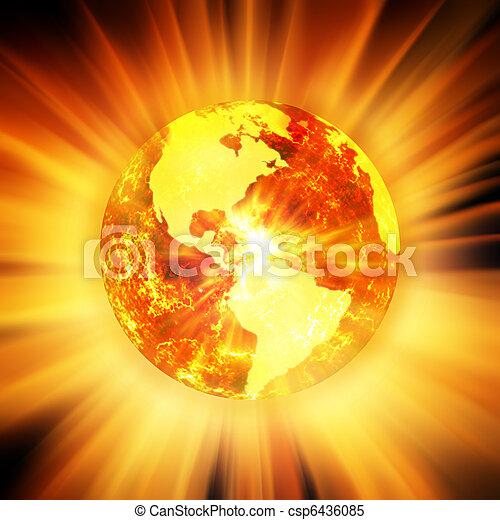 Global warming - csp6436085