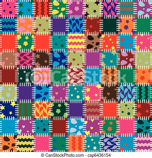 vector patchwork art background  - csp6436154