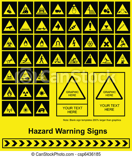 Hazard Warning sign - csp6436185