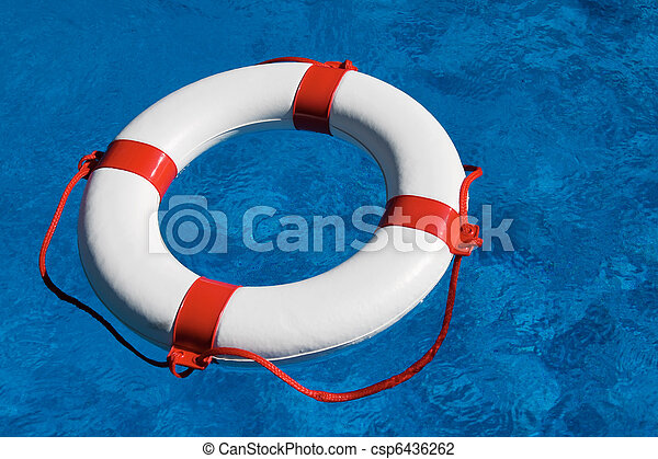 Rescue tires in the pool - csp6436262