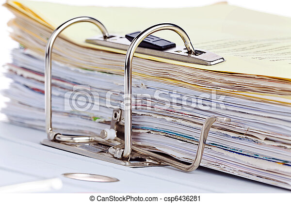 File folder with documents and documents - csp6436281