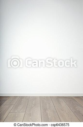 Blank wall & wooden floor - csp6436575