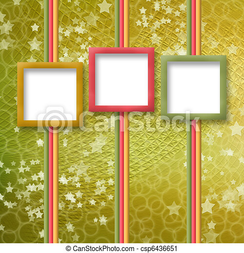 multicoloured holiday frames for greetings or invitations - csp6436651