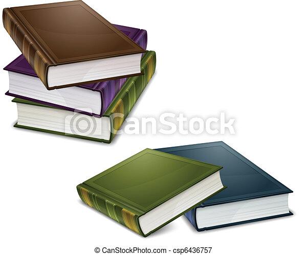 Close color books - csp6436757