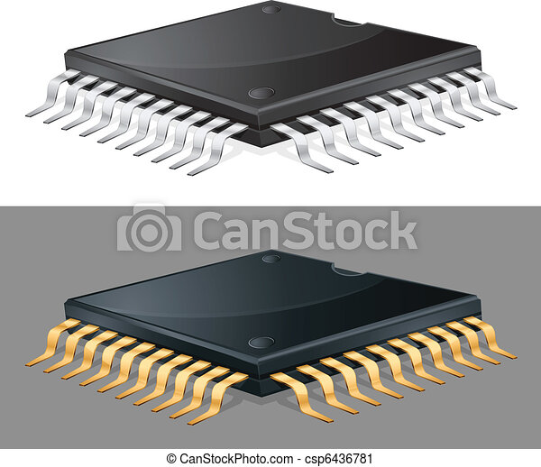 Computer chip - csp6436781