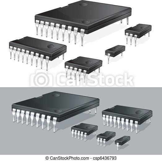 Computer chips - csp6436793