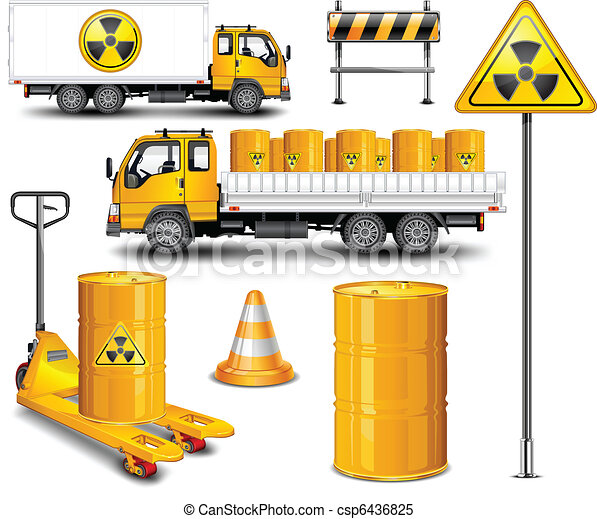 Transport with radioactive waste - csp6436825