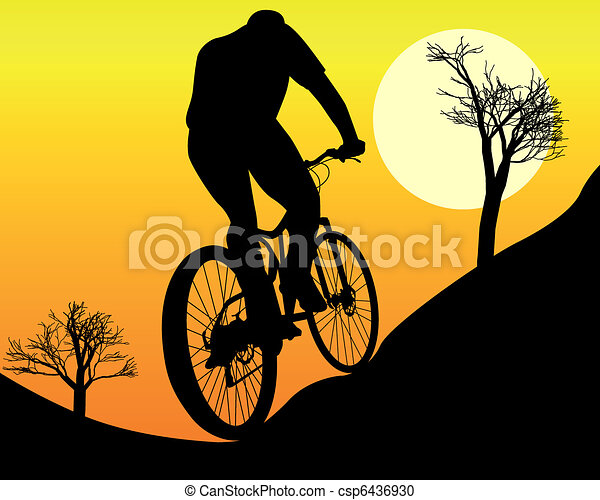mountain biker - csp6436930