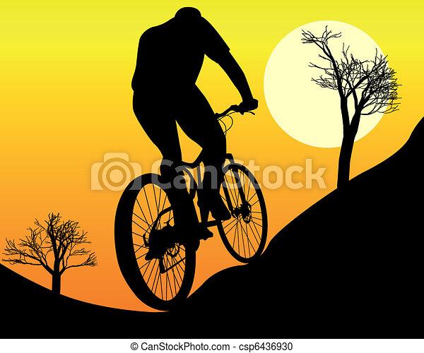 mountain biker - csp6436930