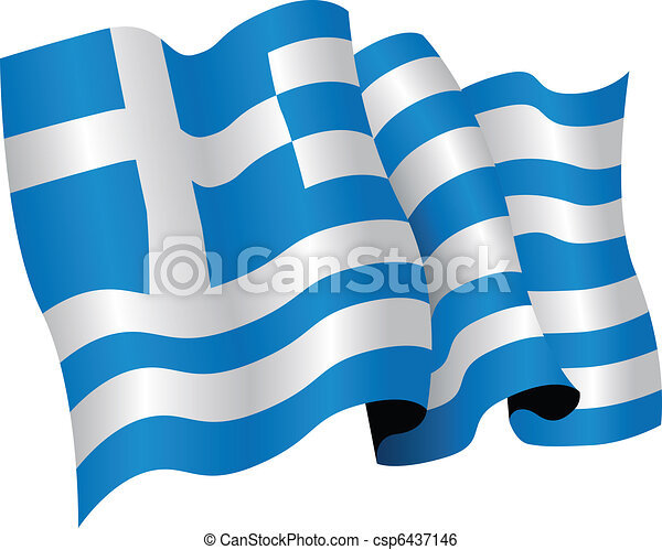 greece national flag - csp6437146
