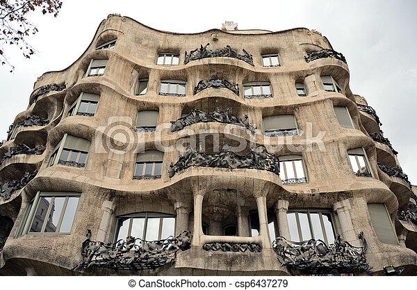 Casa Mila La Pedrera, Barcelona - csp6437279