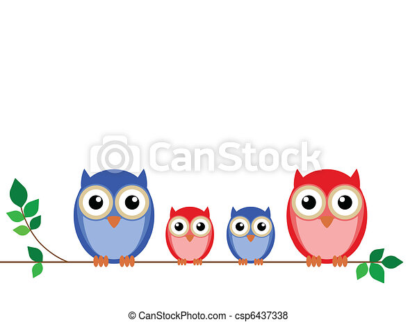 Family of owls  - csp6437338