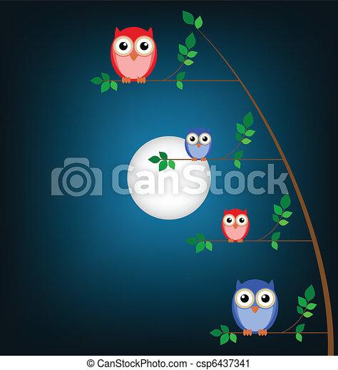 Owl family - csp6437341