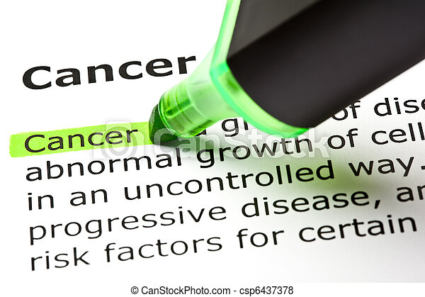 'Cancer' highlighted in green - csp6437378