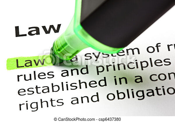 'Law' highlighted in green - csp6437380