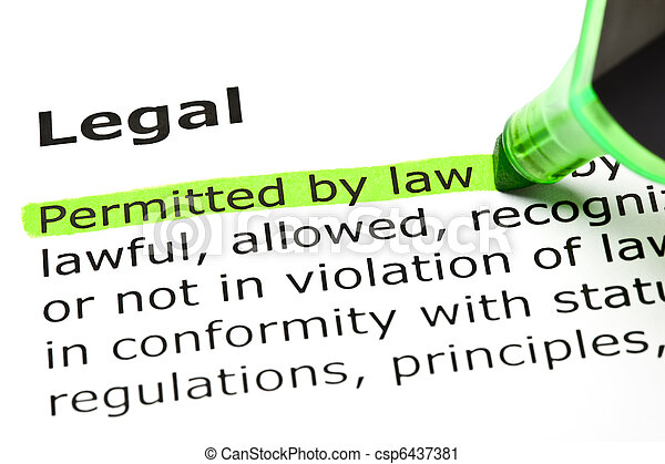 'Permitted by law', under 'Legal' - csp6437381