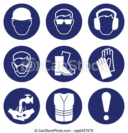 Health and Safety Icons - csp6437679