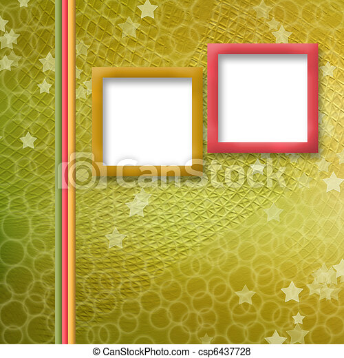 multicoloured holiday frames for greetings or invitations - csp6437728