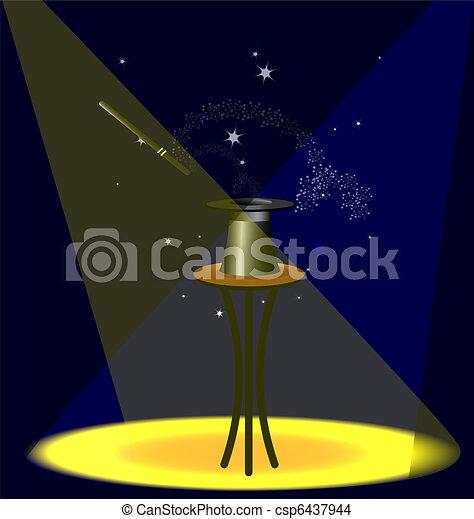 scene and a magic wand - csp6437944