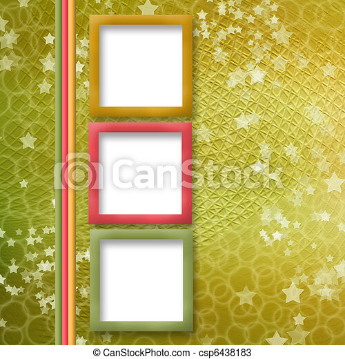 multicoloured holiday frames for greetings or invitations - csp6438183