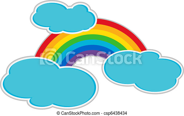 Rainbow and Clouds - csp6438434