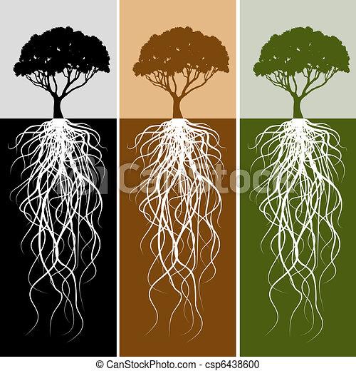 Vertical Tree Root Banner Set - csp6438600
