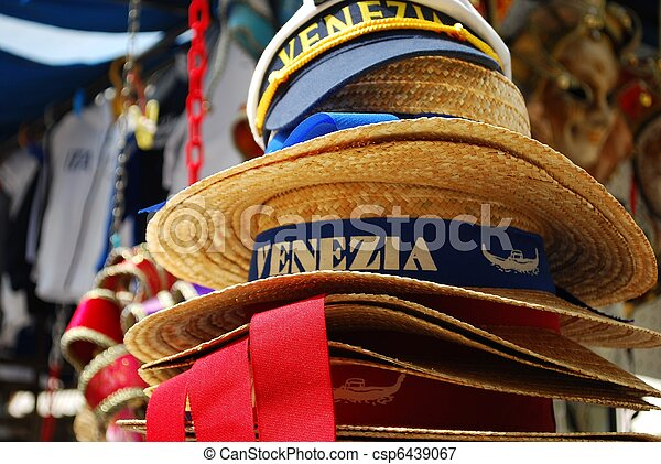 Venice, souvenir hats - csp6439067