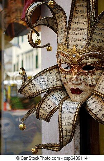 Carnival mask, Venice - csp6439114